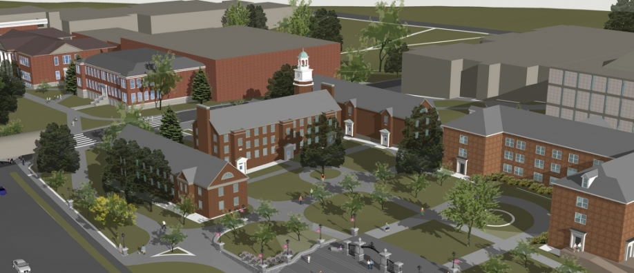 image of campus rendering