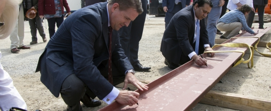 """Topping Out' Ceremony Held for Dining Hall"