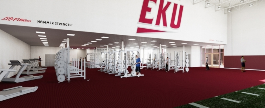 renovated weight room rendering