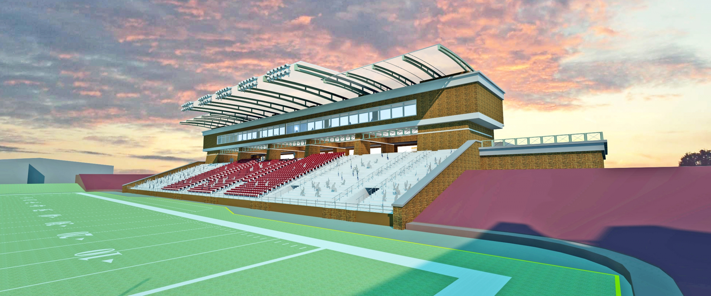 rendering of Roy Kidd Stadium Project