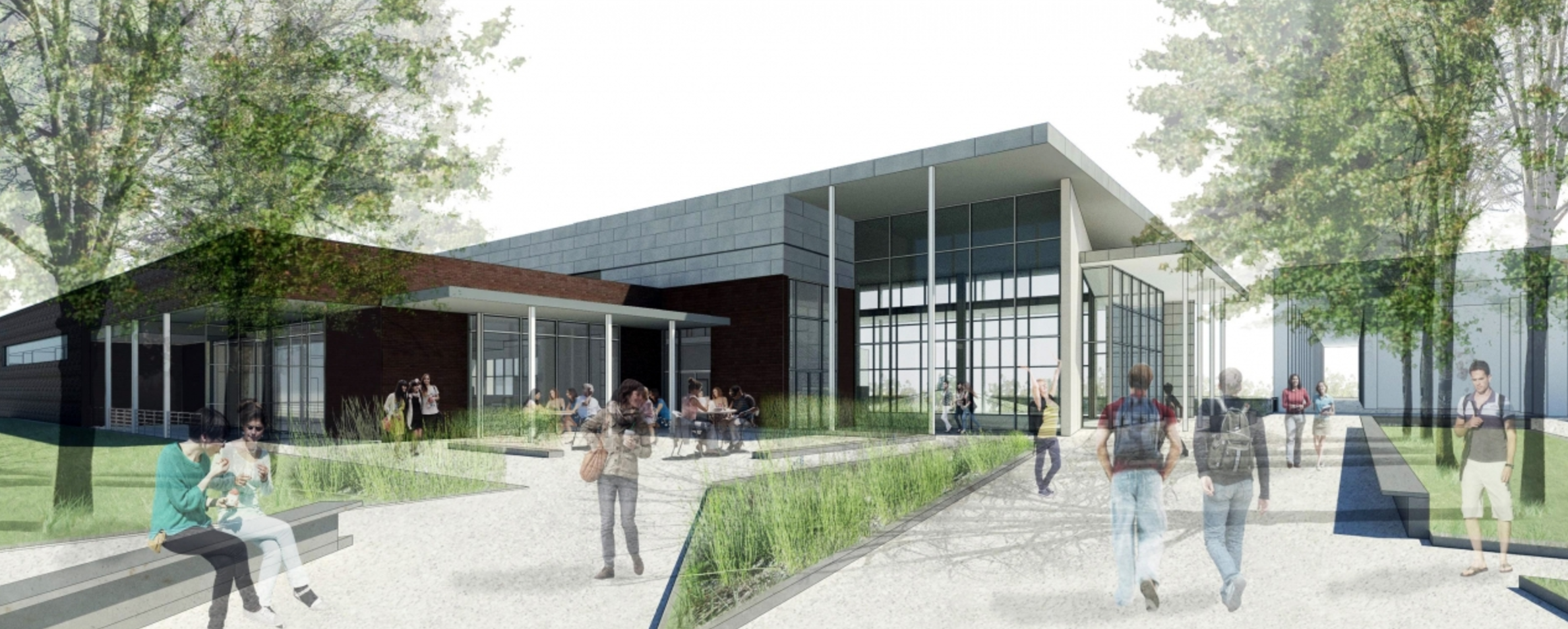 rendering of dining hall