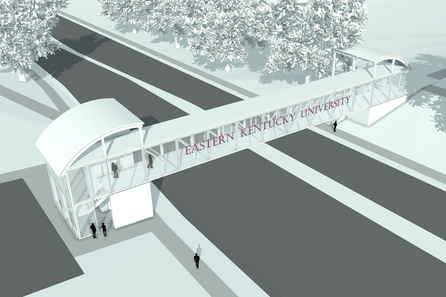 rendering of new pedway