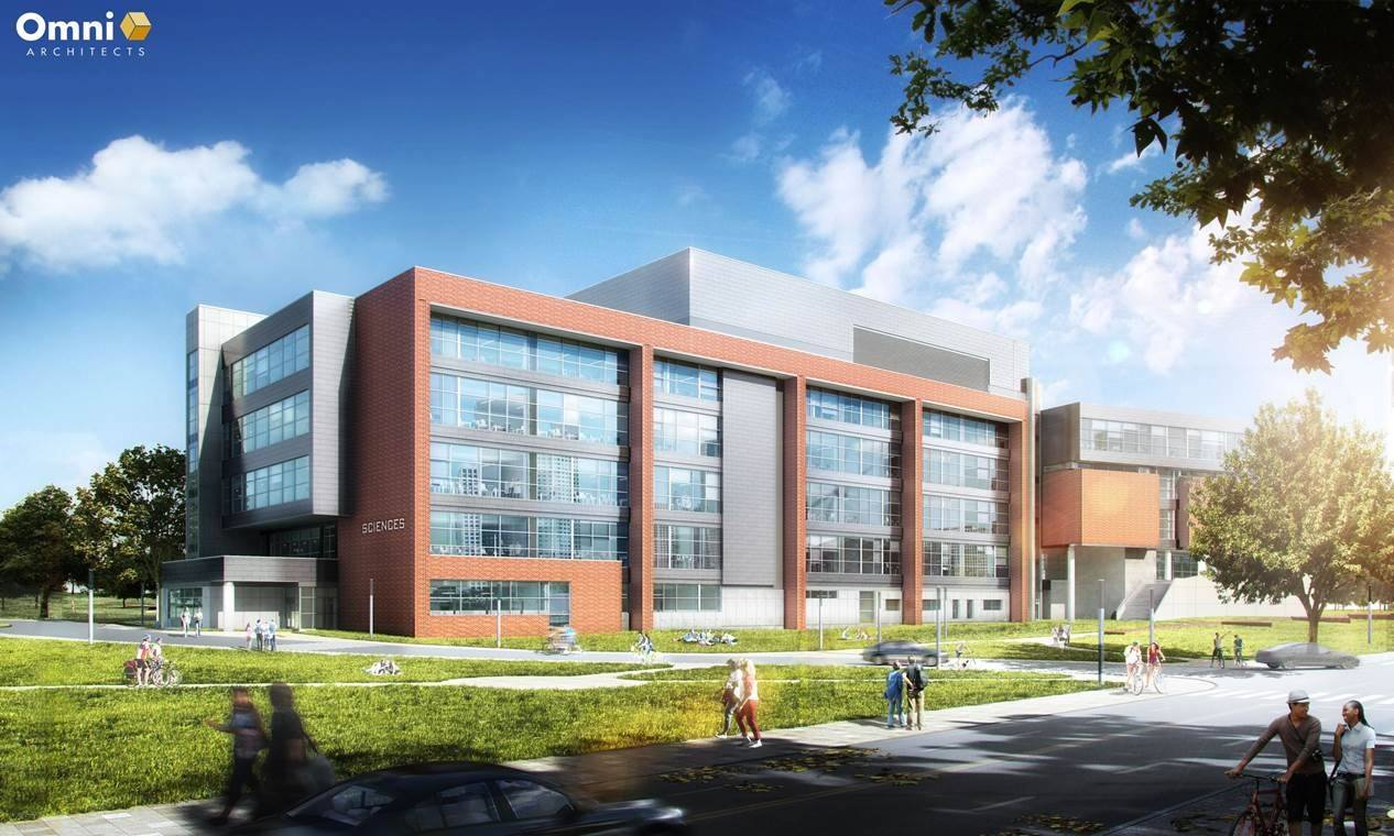rendering of new science building